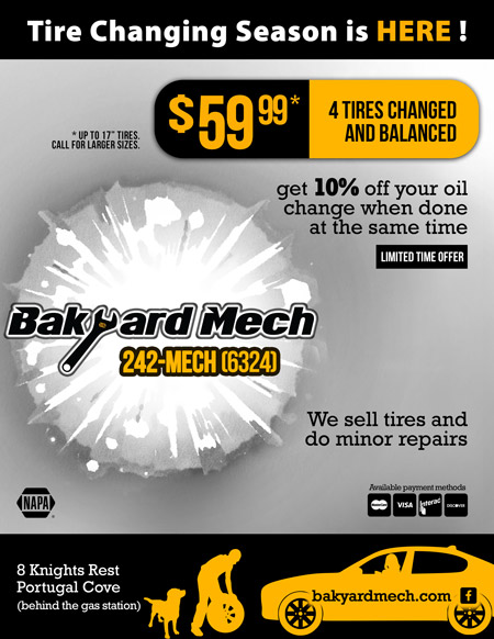 tire chamge only $59.99, and get 10% OFF your oil change when done with your tire change!